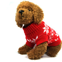 Christmas Red Dog Sweater