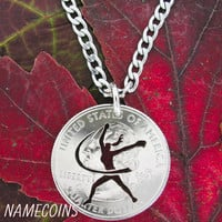 Softball Fastpitch Hand Cut Coin Necklace
