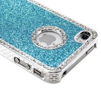 Generic MC0153 Cell Phone Case for iPhone 4 4G 4s - Non-Retail Packaging - Blue