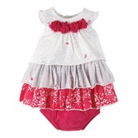 Petit Lem™ Perfume Diva 2-Piece Sleeveless Dress and Diaper Cover Set in Red/White