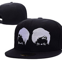 RHXING Phil And Dan Cat Whiskers Adjustable Snapback Embroidery Hats Caps
