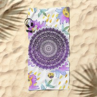 BLOOM MANDALA Beach Towel by Nika
