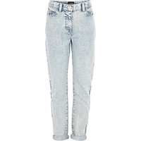 River Island Girls light acid wash ultimate boyfriend jean