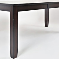 Dark Rustic Prairie Dining Table With Butterfly Leaf - Transitional - Dining Tables - by HedgeApple