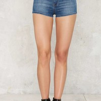 Zee Gee Why Ribwarmer Denim Shorts