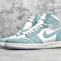 "[Free Shipping ]Air Jordan 1 ""Turbo Green""555088-311 Basketball Sneaker"