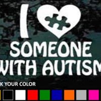 I Love Someone With Autism Car Vinyl Decal