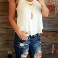Breath of Life Layered Top: White