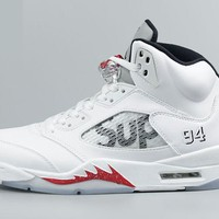 AIR JORDAN 5 RETRO 'SUPREME' WHITE