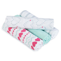 aden® by aden + anais® swaddleplus® 4 Pack - Light Hearted