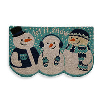 """Let It Snow"" Snowmen Doormat"