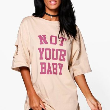 Sadie Not Your Baby Printed T-Shirt