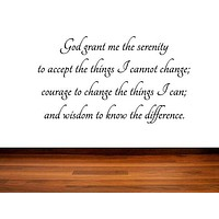 The Serenity Prayer - Inspirational Wall Signs