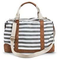 Women's Striped Weekender Handbag - Gray