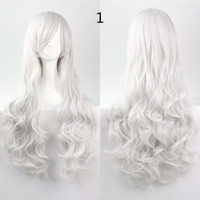 COS Wig Hair Extension woman wigs Hatsune Miku Cosplay Wig long hair wig wigs synthetic hair cap multicolor hair curly wig hair S2312-1