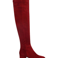 GIANVITO ROSSI Rolling suede over the knee boots