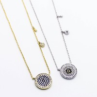 Circle charms necklace