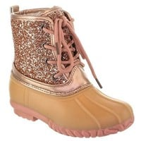 FALL ROSE TWO TONE LACE UP KIDS DUCK BOOT