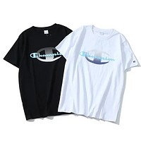 Champion New fashion bust letter print couple top t-shirt