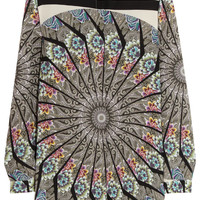Etro - Printed washed-silk top