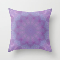Lavender Garden 2 Throw Pillow by Lena Photo Art