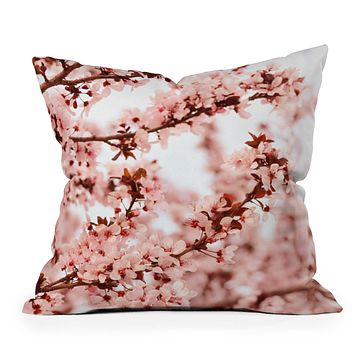 Lisa Argyropoulos Blissfully Pink Throw Pillow