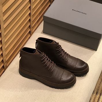 Balenciaga  Men Fashion Boots fashionable Casual leather Breathable Sneakers Running Shoes