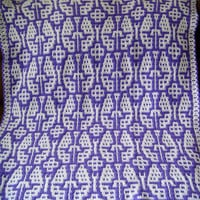 Butterfly Baby Blanket Crochet Handmade in Bright Purple and White