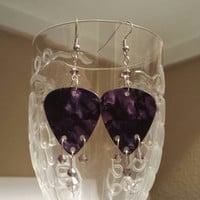Guitar Pick Earrings - Betsy's Jewelry - Purple