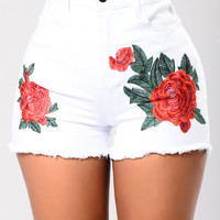 Touch of Pedal Shorts - White