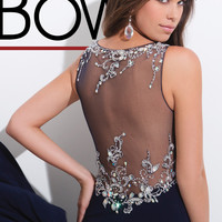 High Neck With Sheer Back Tony Bowls Evenings Prom Dress TBE11414
